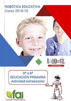 Clases de robotica educativa para alumnos de primaria de 3º a 6º